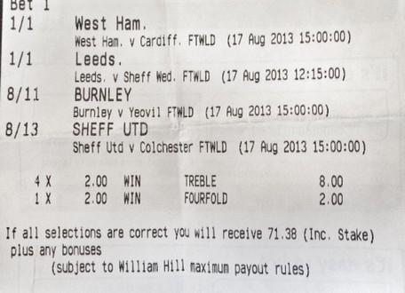 Betting Slip Week 1